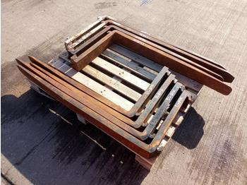 Pallet of 4` Tynes (8 of) - forks