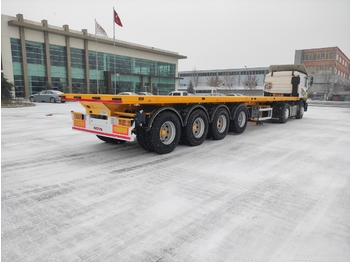 Dropside/ flatbed semi-trailer Nova NEW 4 AXLE FLATBED SEMI TRAILER FOR AFRICA