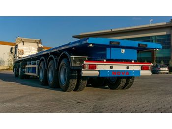 Dropside/ flatbed semi-trailer Nova NEW FLATBED SEMI TRAILER WITH CONTAINER LOCKS