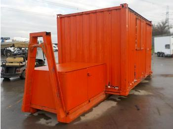 12' x 8' Welfare Unit, Generator Storage, Fixed to RORO Frame to suit Hook Loader Lorry - roll-off container