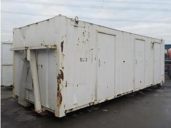 27` x 8` RORO Containerised Sleeper, 3 Compartments, to suit Hook Loader - roll-off container