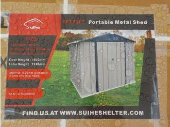 Swap body/ container Unused 6' x 8' Bastone Portable Metal Shed, 2 Doors