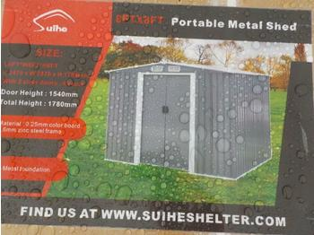 Swap body/ container Unused 8' x 8' Bastone Portable Metal Shed, 2 Doors