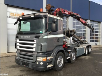 Scania R 480 8x2 15 ton/meter Z-kraan - cable system truck