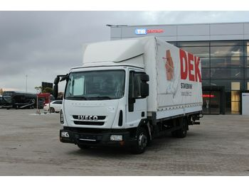 Curtainsider truck Iveco ML 75E18, HYDRAULIC LIFT